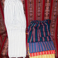 Peruvian Design Striped Unisex Cotton Pants. Super-Soft and Fashionable.
