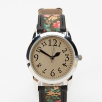 Leather Woven Band Watch