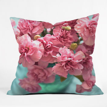 "Lisa Argyropoulos Pink Carnations Throw Pillow - Indoor / 26"" x 26"" / Pillow Cover Only"