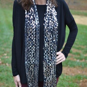 Holiday Sparkle Scarf in Black