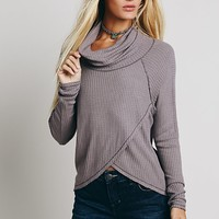 We The Free Womens We The Free Luxe Cowl Thermal - Mink