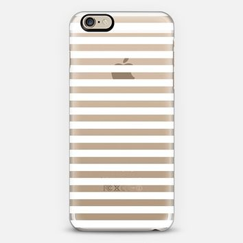 Classic White Stripes Transparent iPhone 6 case by Organic Saturation | Casetify