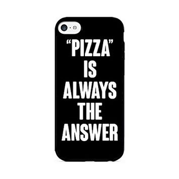 """""""PIZZA"""" Is Always The Answer - Black - iPhone 6 Black Case (C) Andre Gift Shop"""