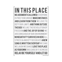 In This Place Wall Decal