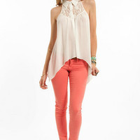 Up High Sleeveless Button Down Shirt $35