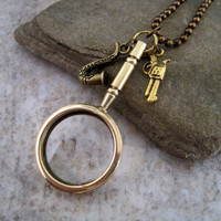 Sherlock Holmes Inspired Magnifier Necklace