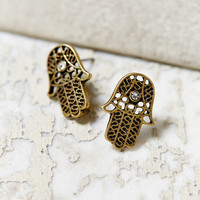 Light In Your Palms Stud Earring- Gold One