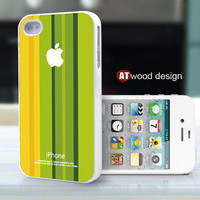 iphone 4 case iphone 4s case iphone 4 cover green yellow beautiful  colors  graphic design printing ($13.99)