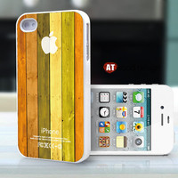 friendship iphone 4 case iphone 4s case iphone 4 cover Iphone Logo yellower style colorized wood texture image unique design printing ($13.99)