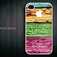 iphone 4 case iphone 4s case iphone 4 cover  beautiful colorized wood texture image unique design printing ($13.99)