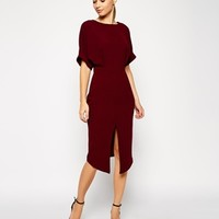 ASOS TALL Wiggle Dress with Wrap Back and Split Front