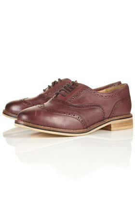 KAMBRIDGE Leather Brogues - Flats  - Shoes