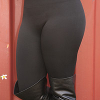 Perfect Fit Leggings: Black            - One