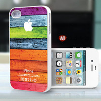 iphone case iphone 4s case iphone 4 cover white iphone case colorized wood texture Iphone Logo design printing ($13.99)