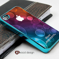 blue silvery iphone 4 case eletroplate  iphone 4s case iphone 4 cover colorized unique Iphone case design ($16.99)