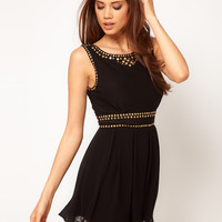 TFNC Skater Dress with Embellished Studd Trim at asos.com