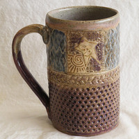 ceramic star mug 16oz stoneware 16A046