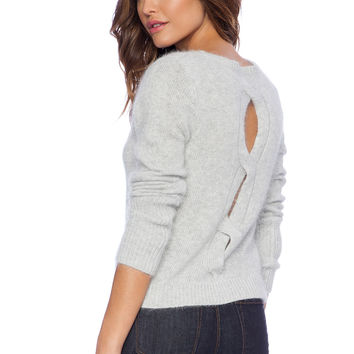 John & Jenn by Line Daisey Cullum Sweater in Gray