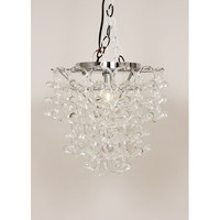Control Brand LS951C1 Anna Clear One Light 13.75-Inch Chandelier