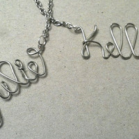 Personalized Wire Name Necklace