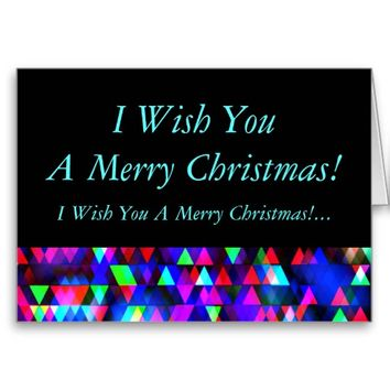 Creation Lights - Merry Christmas Greeting Card