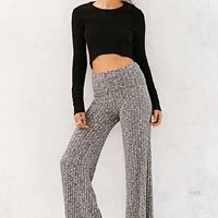 Out From Under Rib Wide-Leg Pant- Grey
