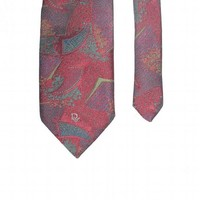 Vtg. Christian Dior Monsieur Jacquard Abstract pattern Necktie