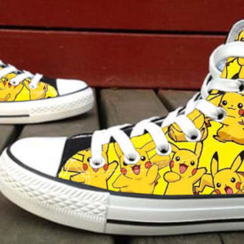 Digital Monster pokemon  Custom High Top Canvas Shoes for Women,men by HightShoes