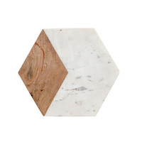 Holly's House - Marble and Wood Hexagon Chopping Board