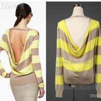 BCBG Backless sweater