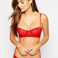 ASOS Demi Lace Set in Red at asos.com