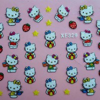 3D Nail Sticker Decal Hello Kitty D.. on Luulla