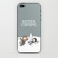 Winter is Coming iPhone & iPod Skin by See Mike Draw