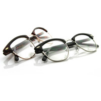 Vintage Retro Optical Half Frame Horned Rim Glasses 2946 [2 Pack] - 2 Pack