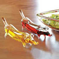 Weiner Dog Oil & Vinegar, Salad Oil Servers | Solutions