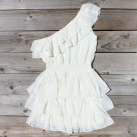 River&#x27;s Mist Dress in White, Sweet Women&#x27;s Country Clothing
