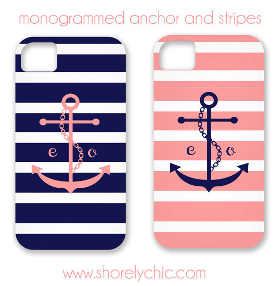 Anchor & Stripes iPhone Cover
