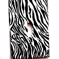 Zebra Print Switchplate Cover Single or Double