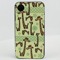 Giraffe  Hard Case Cover for Apple iPhone 4gs Case, iPhone 4s Case, iPhone 4 Hard Case