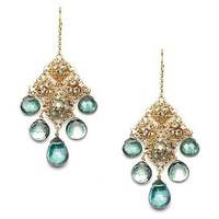 Diane Yang Green Chandelier Earrings at MYHABIT