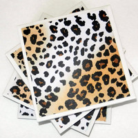 Leopard Cheetah Print Ceramic Coasters (Set of 4)