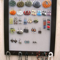 JEWELRY DISPLAY ORGANIZER Dark brown / 50 - 80 Earrings / 32 - 48 Necklaces