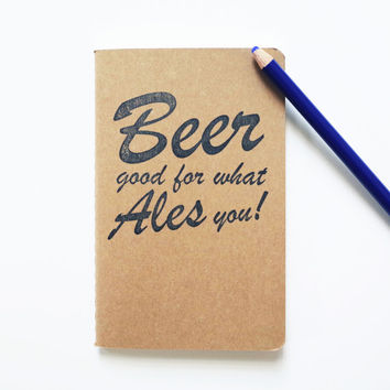 Beer notes pocket journal, craft ales homebrewing diary