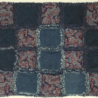 Pet Ragged Quilt Blanket Dog or Cat Denim Fleece Cotton