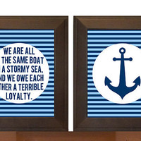 In the same boat - Nautical Print - Chesterton Quote