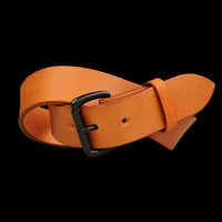 UNIONMADE - tanner goods - Standard Belt in Saddle Tan & Black