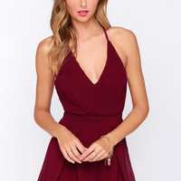 Good and Proper Burgundy Romper