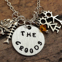 Croods necklace-Free Shipping-The Croods-Inspired by The Croods movie-movie necklace-The Croods-movie jewelry-charm necklace