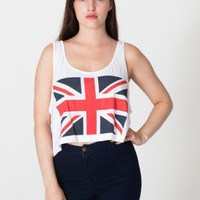 Printed Mid-Length Tank -Union Jack | Sleeveless | Women's Crop Tops | American Apparel