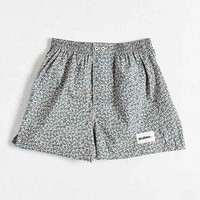 druthers Micro Floral Boxer- Green